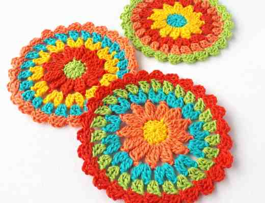 crochet coasters free pattern summer easy make