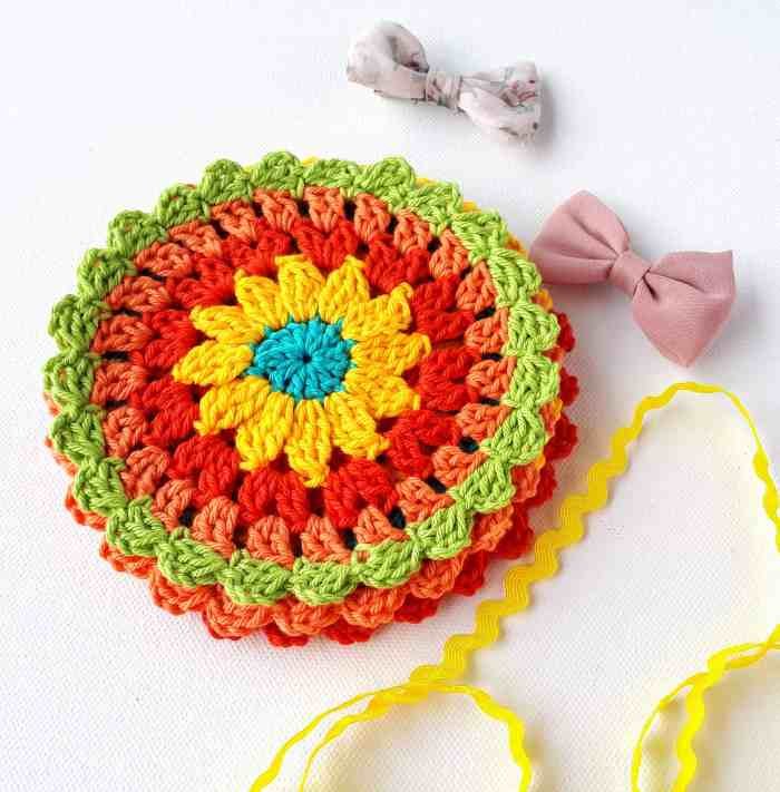 crochet free pattern easy coaster