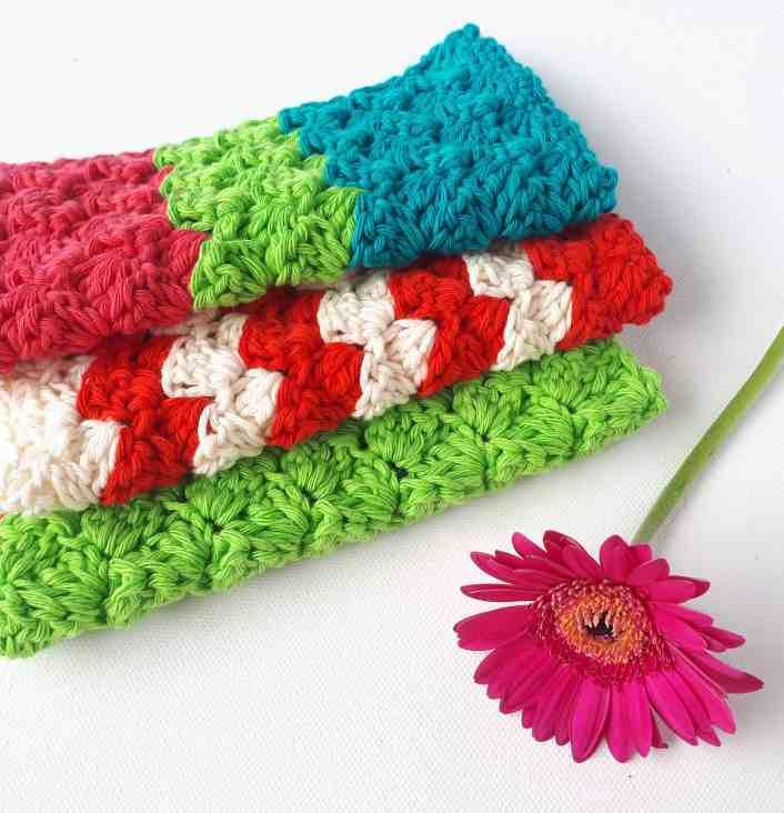 crochet free pattern easy dishcloth