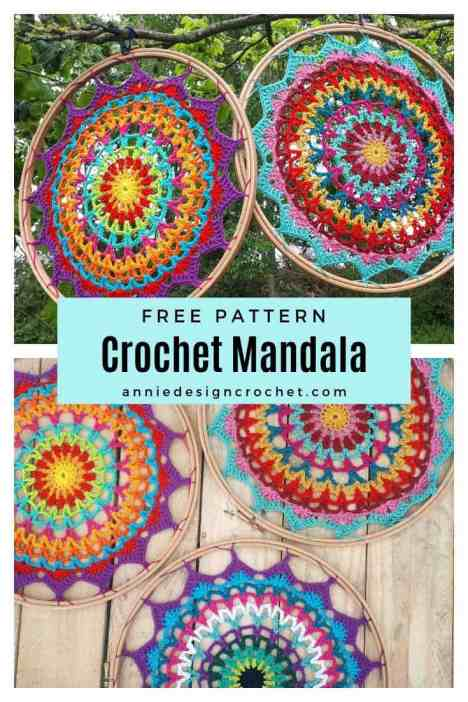 crochet mandala dreamcatcher free pattern