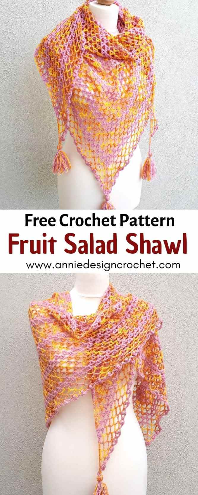 crochet shawl easy lace free crochet pattern