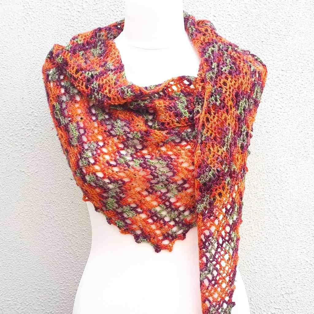 One Skein Crochet Shawl Copper Beech – Free Pattern