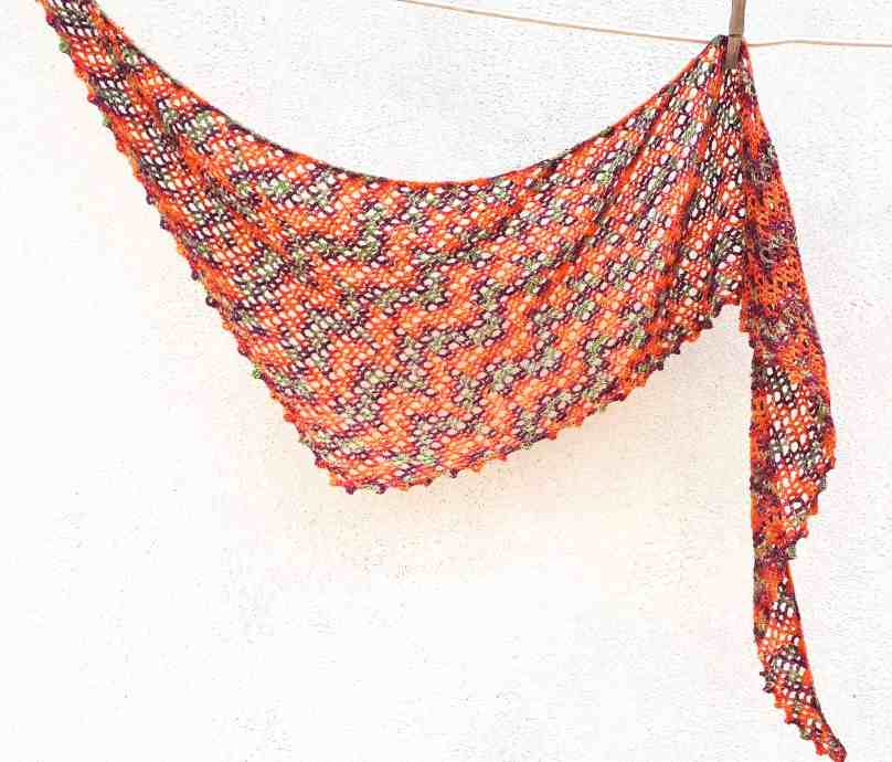 crochet shawl one skein pattern