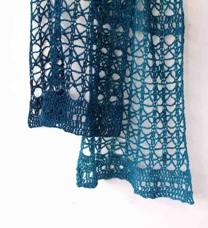 crochet lace scarf free pattern