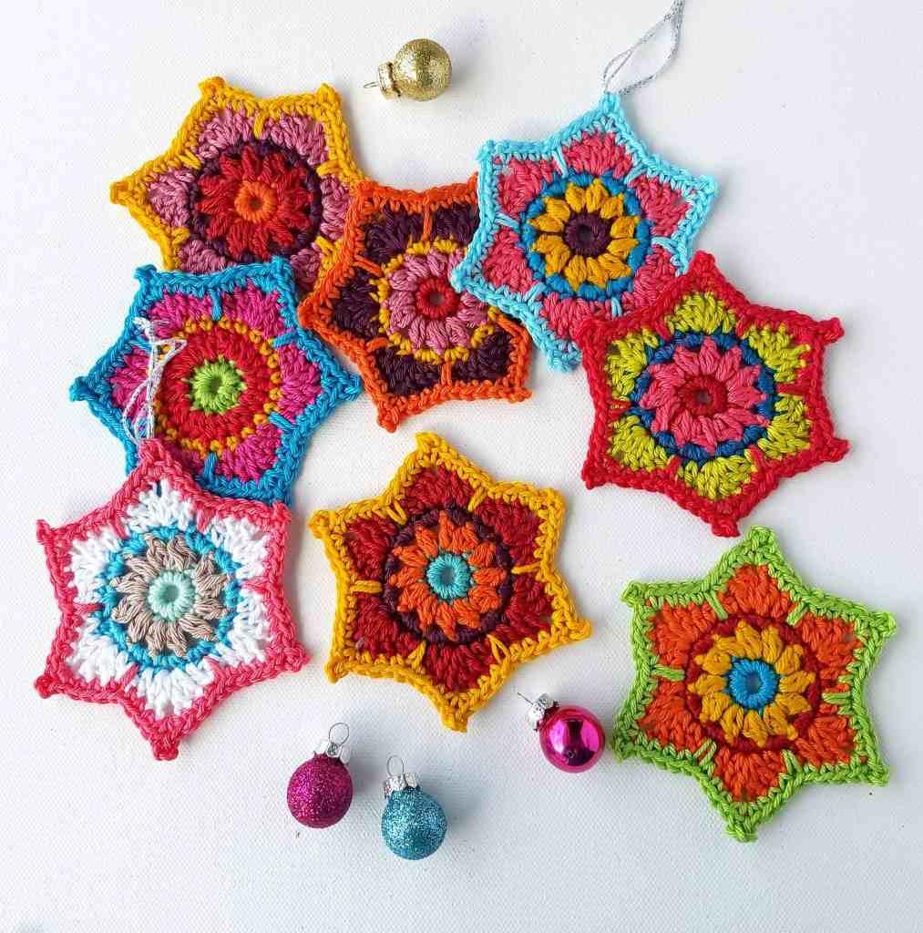 Christmas Crochet Stars – Free Pattern