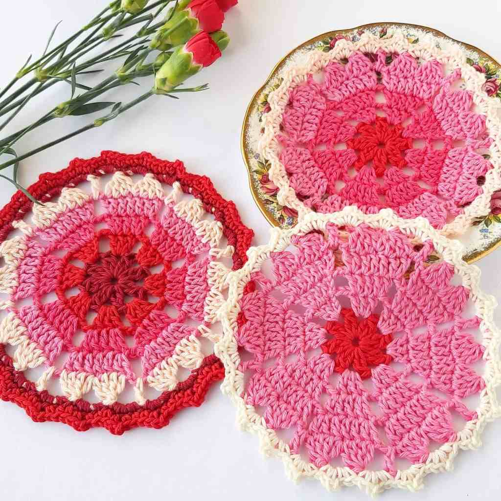 Crochet Heart Coaster for Valentine's Day – Free Pattern