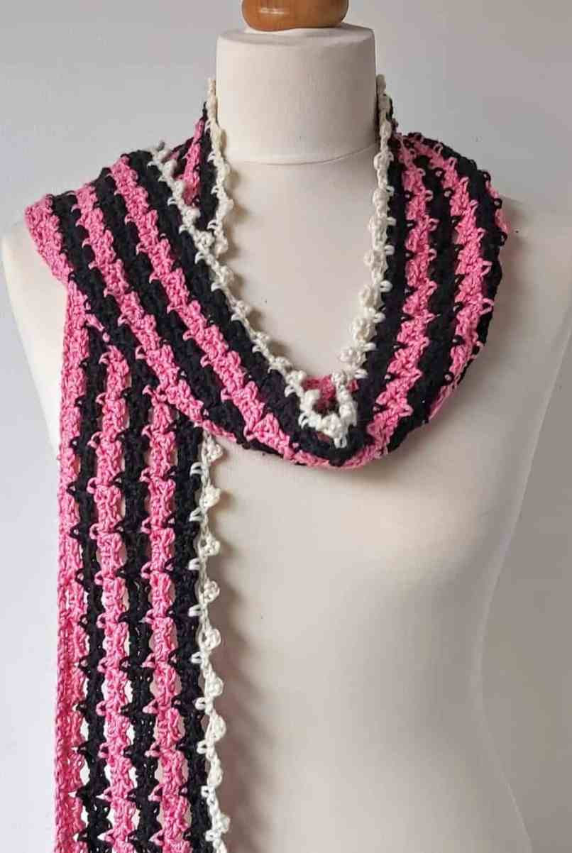 crochet pattern for skinny scarf