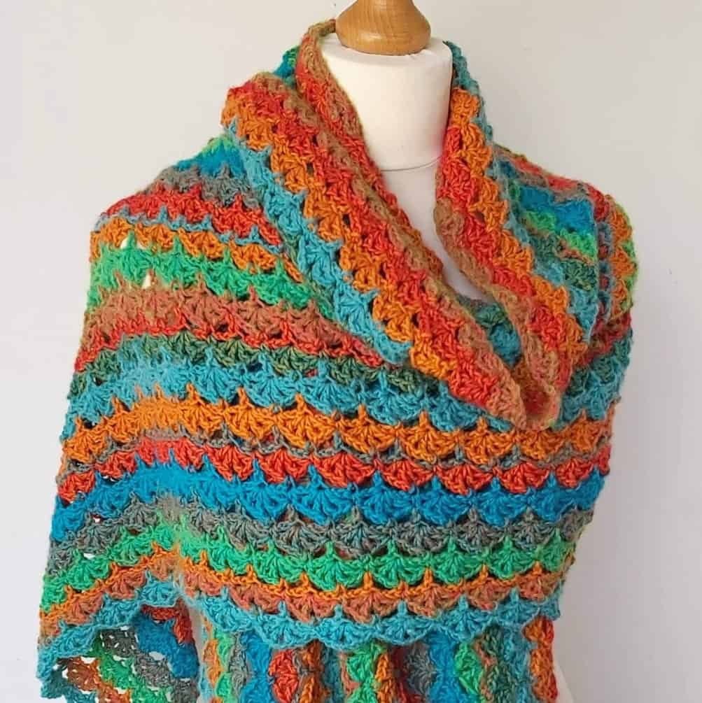Féile – Easy Crochet Wrap Free Pattern