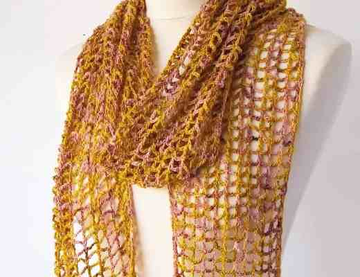 simple lace crochet scarf