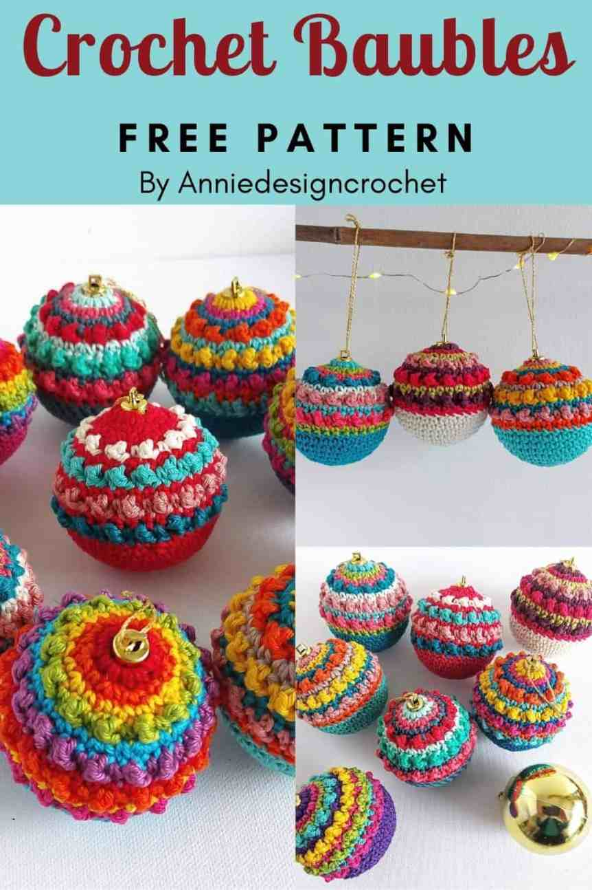crochet boho baubles
