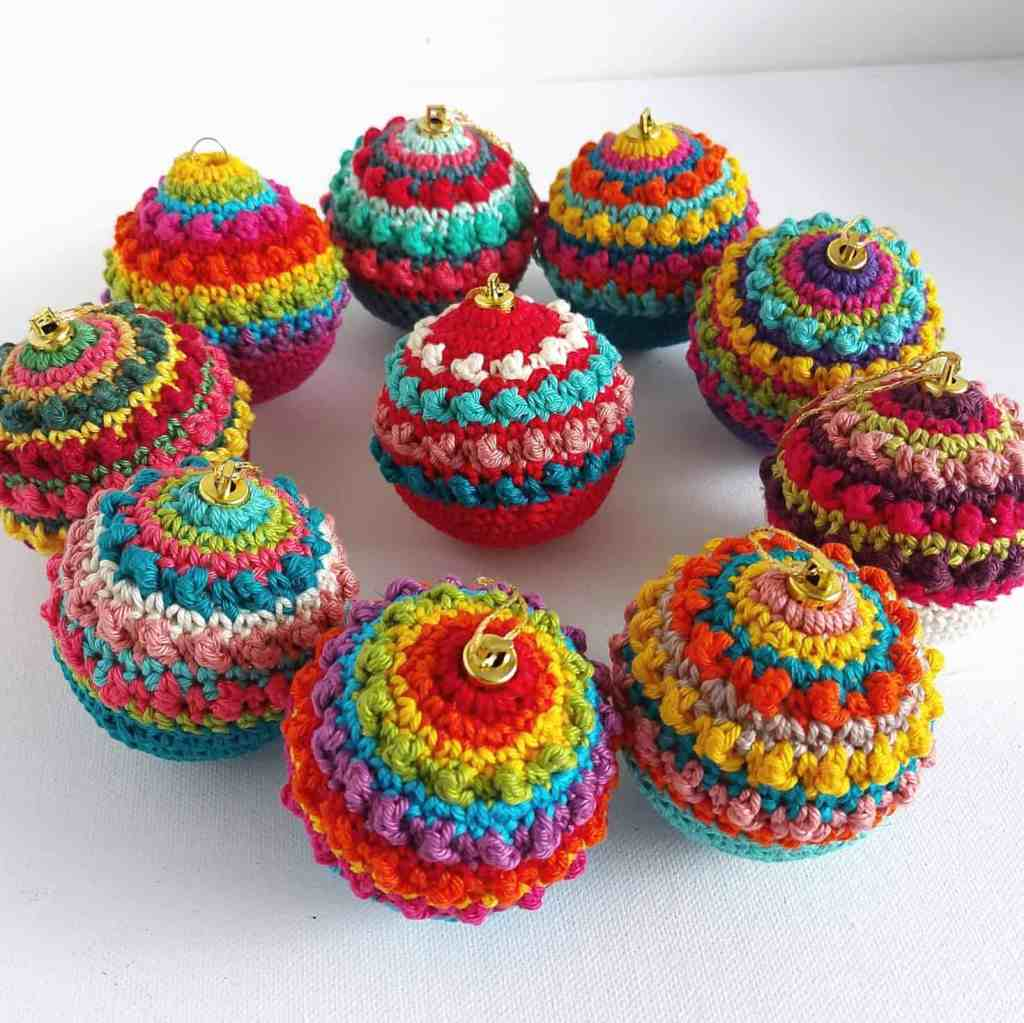 Boho Christmas Crochet Baubles – Free Pattern