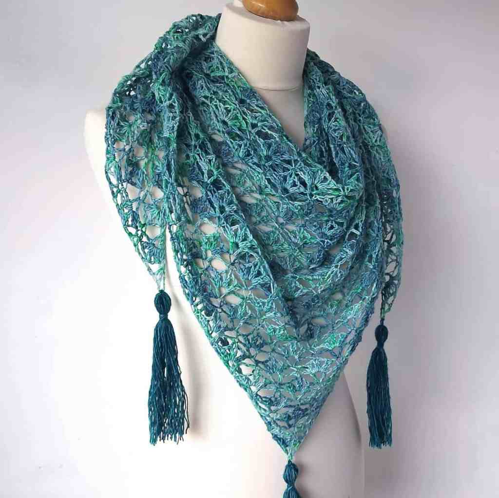 Crochet One Skein Lace Shawl – Winter Ice
