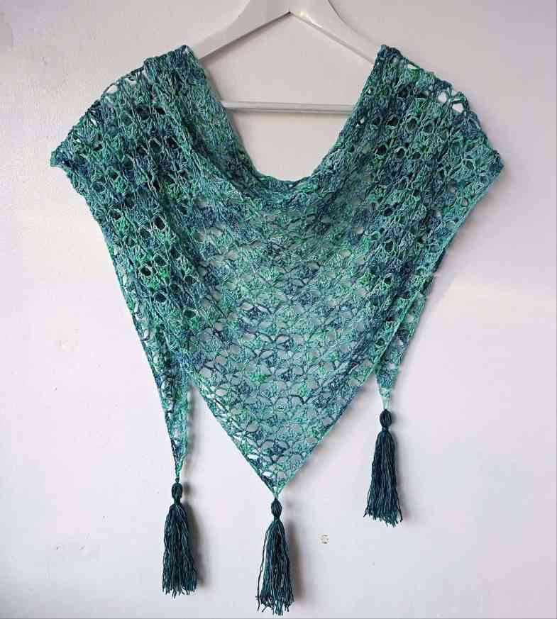 crochet one skein lacy shawl