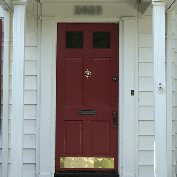 Red And Gold Front Door   Curb Appeal Ideas From Annie Meadows, Raleigh  Realtor With