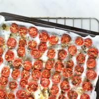 Gedroogde tomaatjes uit de oven