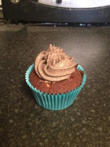 Chocolate Cupcakes with Cookie Dough Centre and Oreo Frosting