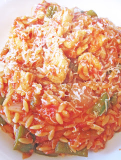 Orzo with Tomato and Chicken