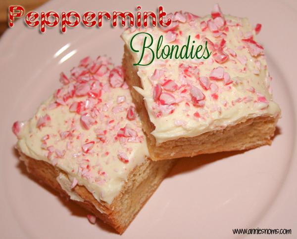 Peppermint Blondies