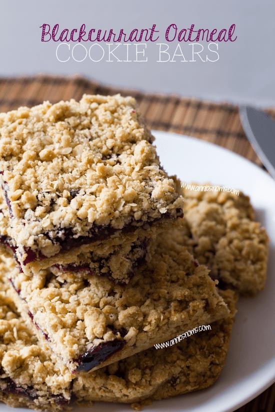 Blackcurrant Oatmeal Cookie Bars