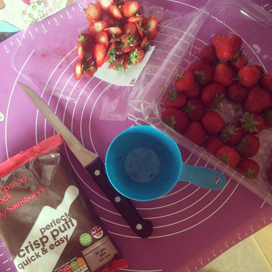 Strawberry Roll Ingredients