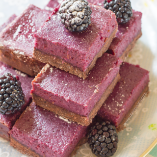 Chocolate and Blackberry Shortbread Bars