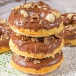My Malt Chocolate Doughnuts are filled with malt powder, topped with a silky milk chocolate glaze and topped with crushed Maltesers. Baked and not fried, you can enjoy these with your afternoon coffee. A malt lover's dream!
