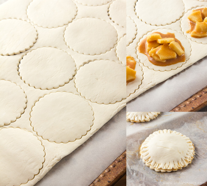 Apple Hand Pies with a difference; A flaky, puff pastry shell and some Salted Caramel to add that sweet/salty combination that everyone loves!