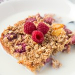 This Orange and Raspberry Baked Oatmeal is the perfect make ahead, healthy breakfast for the whole family! It's delicious and so easy to make!