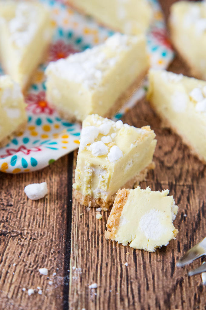 This Lemon Meringue Pie Fudge is ridiculously light and creamy and packed with lemon flavour and meringue pieces atop a shortbread base.