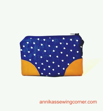 Denim Leather Pouch I
