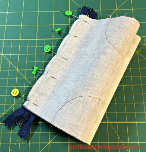 Denim Leather Pouch VII