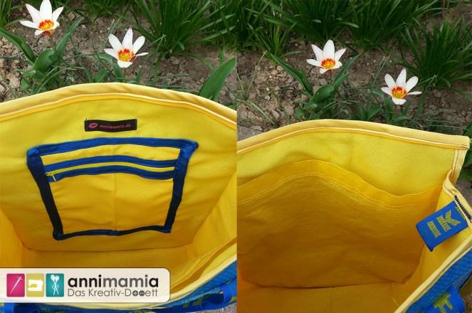 Ikea-Upcycling Tasche (innen) a la hosewear