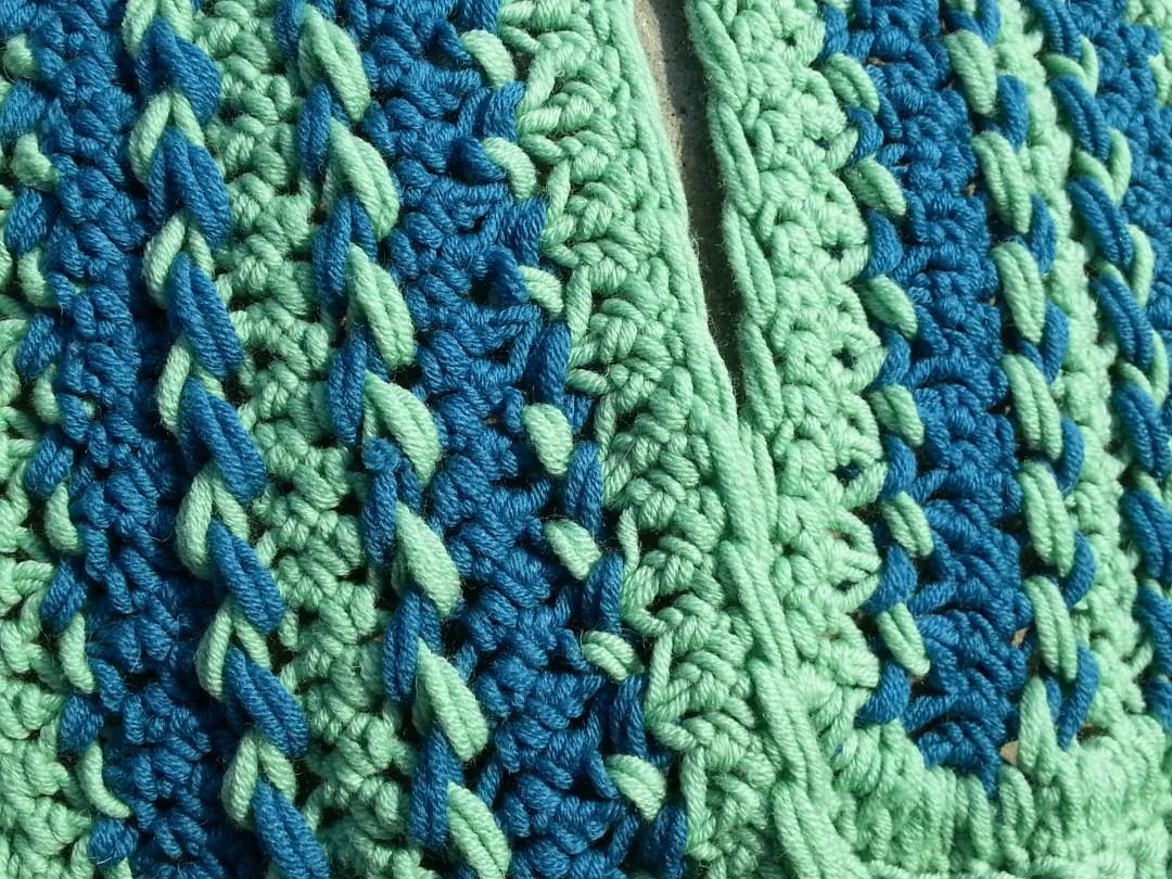 Häkelschal-Muster und -Farben