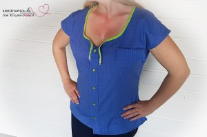 Bluse Sandy aus altem Herrenhemd (Upcycling)