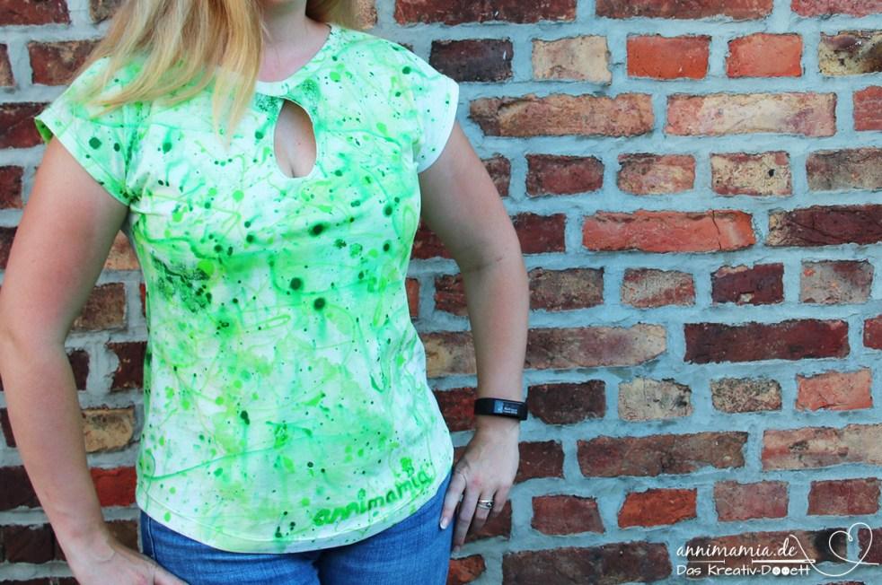 Shirt Sally (selbstgefäbrt) von Romy Nähwerk