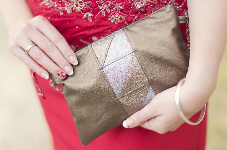 Wedding-Day-Clutch: Patchwork-Tasche zur Hochzeit