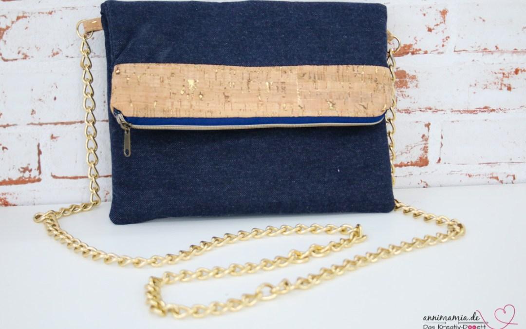 Tasche aus Jeans-Jersey und Kork