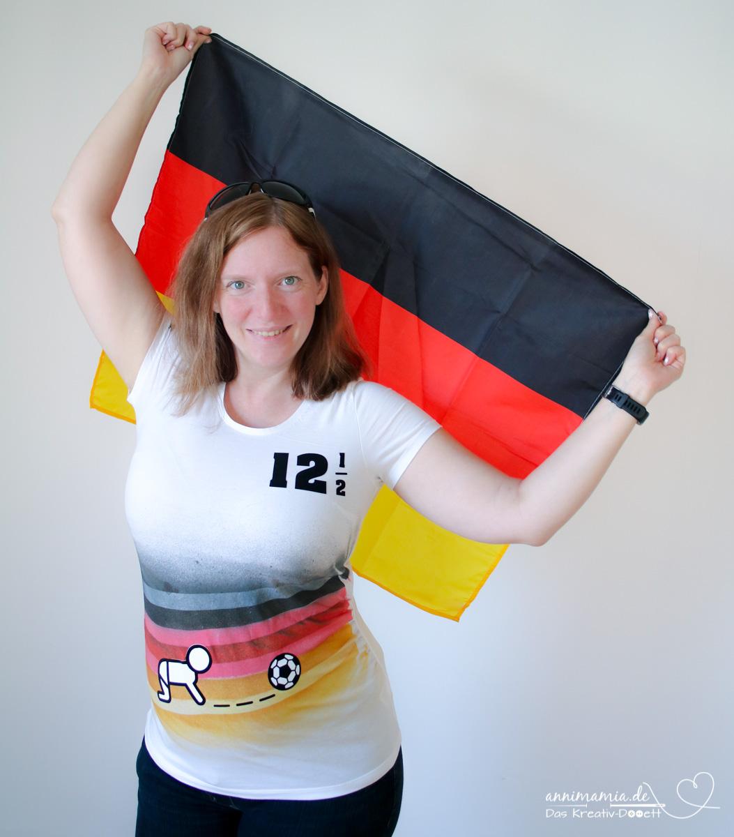 WM-Umstandsshirt mit Marabu Fashion-Farben