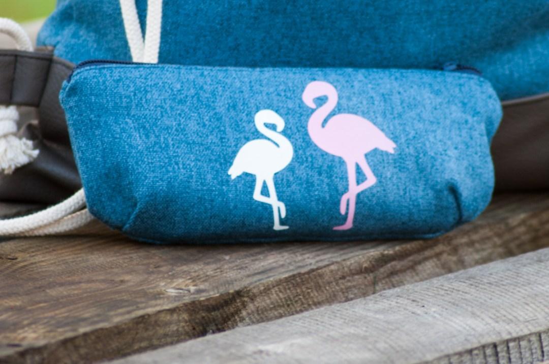 Flamingo-Mäppchen von monsti-handmade