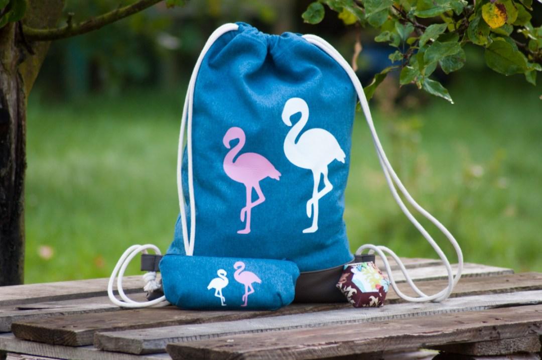 Flamingo-Turnbeutel von monsti-handmade