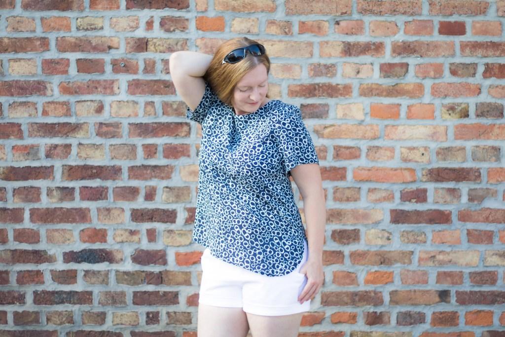 Bluse Areia (Erbsünde) und Shorts Summer (Pattydoo)