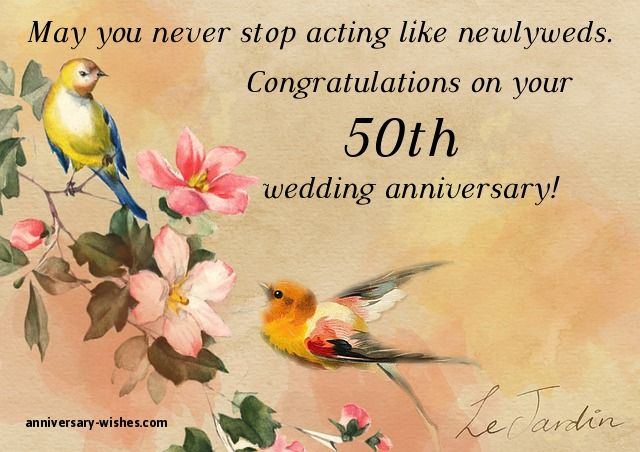 50th Anniversary Wishes Happy 50th Anniversary Quotes Images