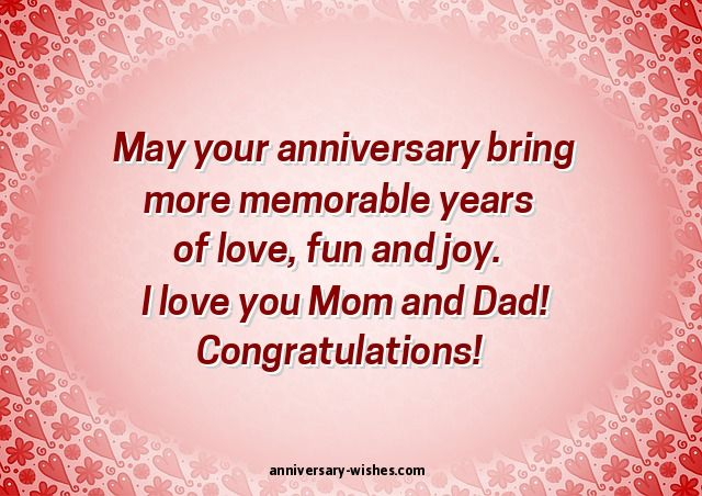 Anniversary wishes for parents happy mom and dad