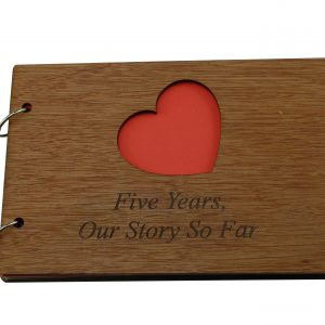 5 Year Anniversary Our Story So Far Scrapbook Anniversary Gifts