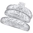 10K White Gold Trio