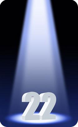 22nd year spotlight image