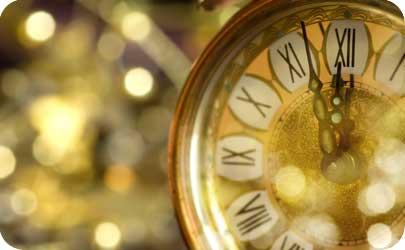 1 year anniversary modern theme clock
