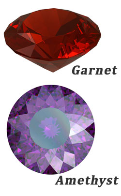 6th year gemstones themes garnet and amethyst image