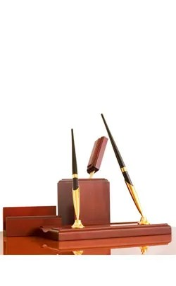 7th year modern anniversary symbol desk set image