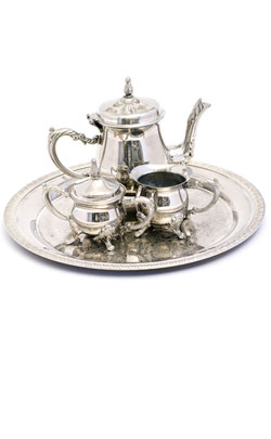 Silver plated tea set is an ever popular choice for an anniversary gift